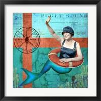 Framed Puget Sound Mermaid
