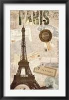 Framed Sepia Paris