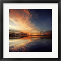 Framed Cloudscape Echoes I