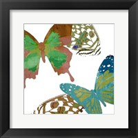 Framed Scattered Butterflies I
