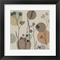 Framed Polka-Dot Wildflowers I