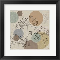 Framed Polka-Dot Wildflowers II