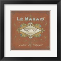 Framed Vintage Wine Labels II