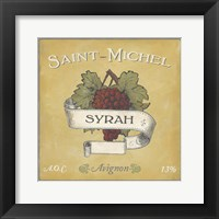 Framed Vintage Wine Labels VI