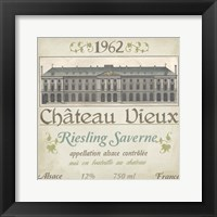 Framed Vintage Wine Labels VII