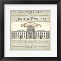 Framed Vintage Wine Labels IX
