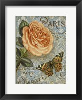 Memories of Paris I Framed Print