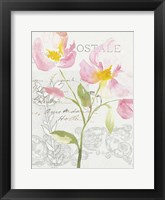 Framed Romantic Watercolor I