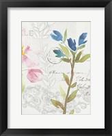 Framed Romantic Watercolor III