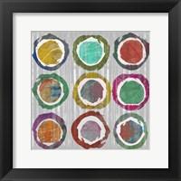 Jagged Circles I Framed Print