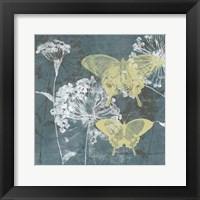 Indigo & Wings II Framed Print