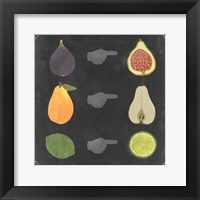 Blackboard Fruit I Framed Print