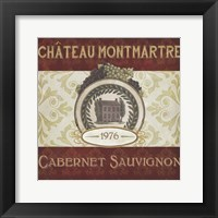 Burgundy Wine Labels II Framed Print