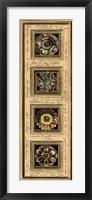 Rosette Panel I Framed Print