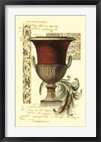 Transitional Urn II Framed Print