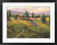 Framed Vineyard Tapestry III