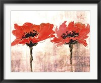 Framed Vivid Red Poppies V