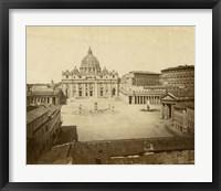 Framed St. Peter's Square