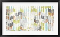 Brushed Chevron I Framed Print