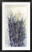 Indigo Floral II Framed Print