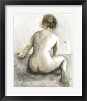 Figure in Watercolor I Framed Print