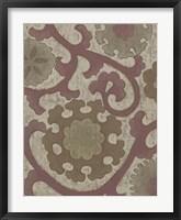Plum Suzani II Framed Print