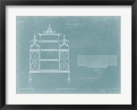China Shelf Framed Print