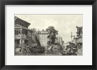 Scenes in China I Framed Print