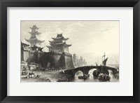 Scenes in China IX Framed Print