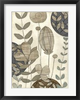 Garden Contours I Framed Print
