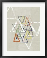 Stamped Triangles I Framed Print