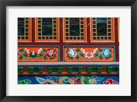 Framed Buddhist temple, Namche Bazaar, Solukhumbu, Nepal.