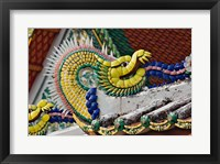 Framed Decorative dragon, Wat Pho, Bangkok, Thailand