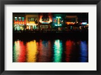 Framed Popular night spot at Boat Quay.
