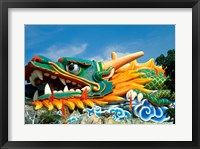 Framed Famous Dragon at Haw Par Villa in Singapore Asia
