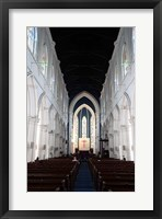 Framed Singapore. The interior view of St. Andrew's Cathedral