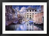 Framed Venetian canal, Venice, Italy