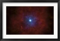 Framed Illustration of a massive star going supernova