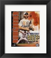 Framed Madison Bumgarner 2014 World Series MVP Portrait Plus
