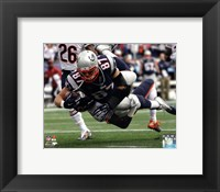Framed Rob Gronkowski Football Reception