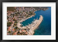 Framed Kas Harbor, Aerial, Antalya, Turkey