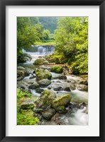 Framed Waterfall and River, Rize, Black Sea Region of Turkey