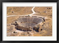Framed Roman Amphitheater, Ancient Hierapolis, Pamukkale, Turkey