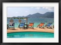Framed Swimming pool, Gulf of Thailand at Chaweng beach, Ko Samui, Thailand