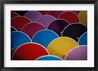 Framed Colorful Umbrellas at Umbrella Factory, Chiang Mai, Thailand