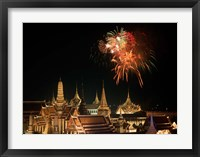 Framed Emerald Palace During Commemoration of King Bumiphol's 50th Anniversary, Thailand