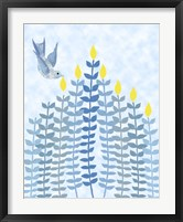 Framed Bird Hanukkah Candles