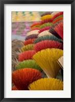 Framed Colorful handmade incense sticks, Da Nang, Vietnam