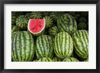 Framed UAE, Abu Dhabi Watermelon at the market