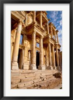 Framed Library of Celsus in ancient Ephesus, Turkey